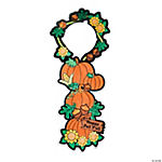 Color Your Own Fall Pumpkin Doorknob Hangers