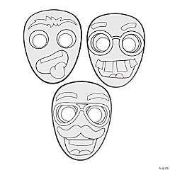 Color Your Own Funny Face Masks