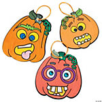 Color Your Own Funny Face Pumpkin Ornaments