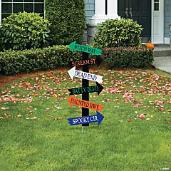 Haunted Halloween Directional Sign