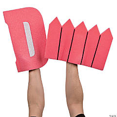 Pink D Fence Foam Hands