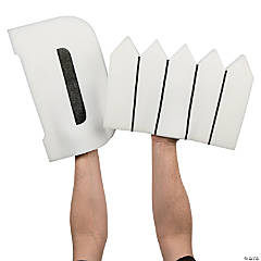 White D Fence Foam Hands