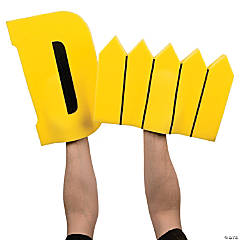 Yellow D Fence Foam Hands