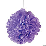 Lilac Pom-Pom Tissue Decorations