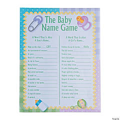 Baby Names Baby Shower Game