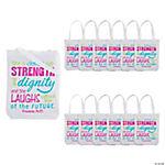 Medium Proverbs 31:25 Tote Bags