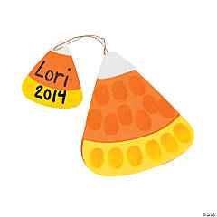 Candy Corn Thumbprint Ornament Craft Kit