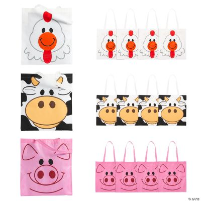 Large Animal Tote Bags