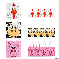 Large Animal Tote Bags