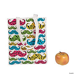 Animal Print Mustache Totes