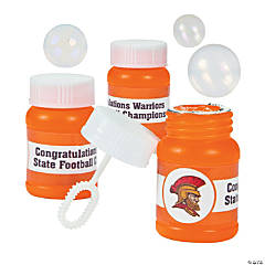 Mini Orange Custom Photo Bubble Bottles