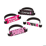 Pink Ribbon Awareness Tab Bracelets