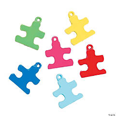 Mini Bright Puzzle Piece Charms