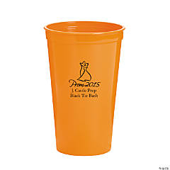 Orange Prom 2015 Personalized Tumblers