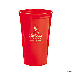 Red Prom 2015 Personalized Tumblers