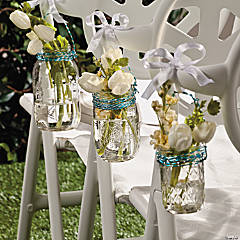 Mason Jar Chair Decorations Idea