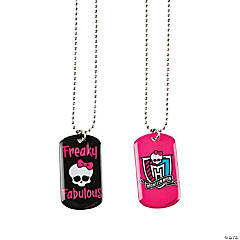 Metal Monster High™ Dog Tag Necklace