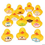 Duck of the Month Rubber Ducky Asst