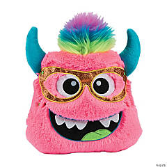 Plush Bright Pink Monster Pillow