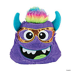 Plush Bright Purple Monster Pillow