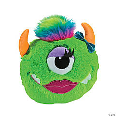 Plush Bright Green Monster Pillow