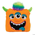 Plush Bright Orange Monster Pillow