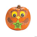 Faith Owl Pumpkin Decorating Craft Kit