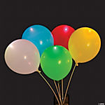 Multicolor Light-Up Latex Balloons