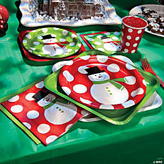 Snowman Dots Party Supplies