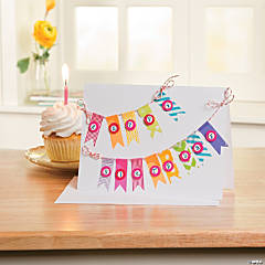 Rainbow Washi Birthday Card Idea