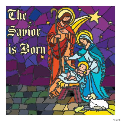 Stained Glass Nativity Backdrop
