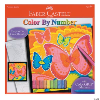 Colour By Number Kits : Faber Castell Color By Number With Markers Kit Oriental Trading