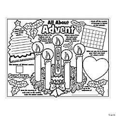 "Color Your Own ""All About the Advent"" Posters"