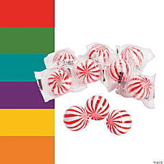 Striped Hard Candy Balls
