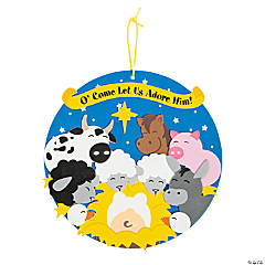 Stable Animals Religious Sign Craft Kit