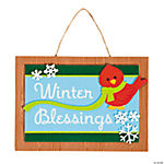 Winter Blessing Sign Craft Kit