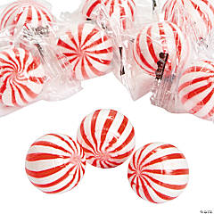 Red Striped Hard Candy Balls