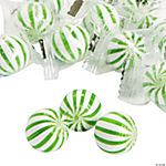 Green Striped Hard Candy Balls