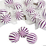 Purple Striped Hard Candy Balls
