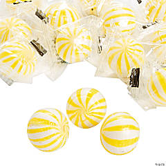 Yellow Striped Hard Candy Balls
