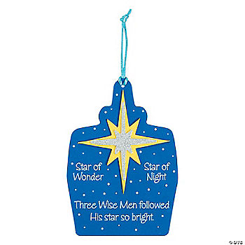 Wise Men Followed Christmas Ornament Craft Kit Oriental