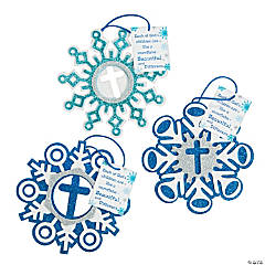 Snowflake Christmas Ornament with Card Craft Kit