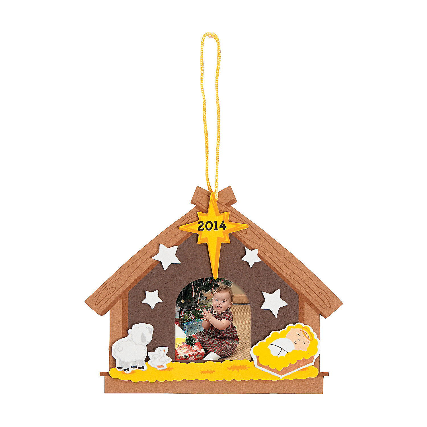 2014 2015 nativity christmas ornament picture frame craft for Photo frame ornament craft