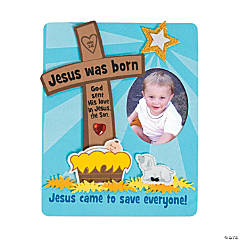Jesus Was Born Picture Frame Magnet Craft Kit
