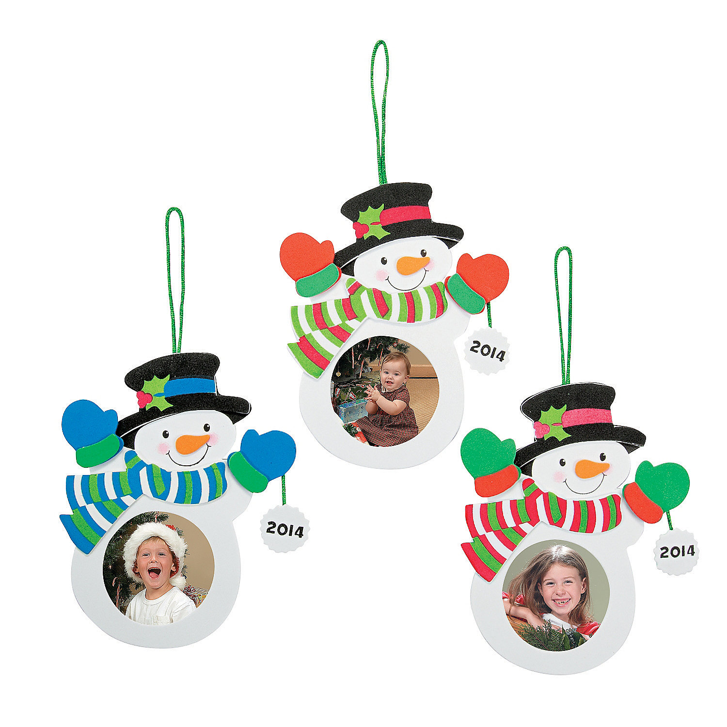 2014 2015 snowman picture frame ornament craft kit for Photo frame ornament craft