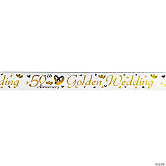 50th Golden Wedding Anniversary Banner