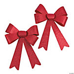 Jumbo Red Glitter Christmas Bows
