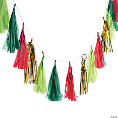 Very Merry Christmas Tassel Garland
