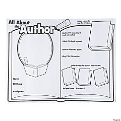 "Color Your Own ""All About the Author"" Posters"