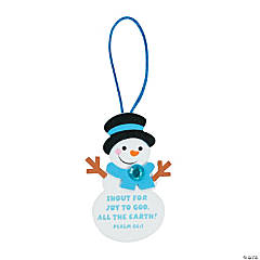 Shout for Joy Snowman Christmas Ornament Craft Kit